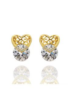 Mindy Heart Gold Earrings