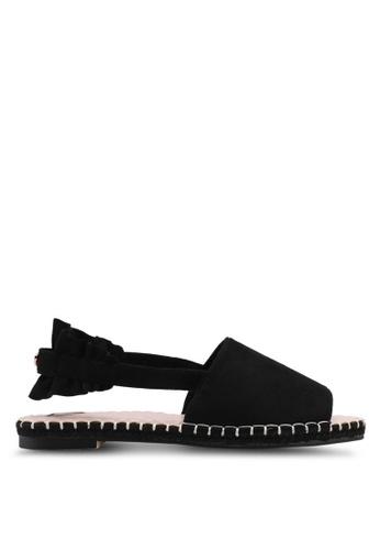 Velvet black Bow Detail Espadrilles 0EE16SH54ADBD8GS_1