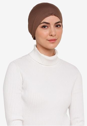 Hijabii brown Naia Tie Back Snowcap in Brown 8E0F4AA6D23E57GS_1