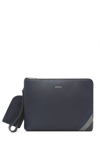 BONIA blue Navy Blue Bernardo Document Bag 6E02DAC8E300EFGS_1