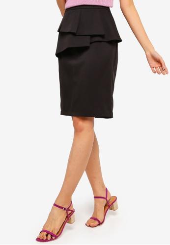 ZALORA black Ruffles Skirt BFA9AAAAEA9A7BGS_1