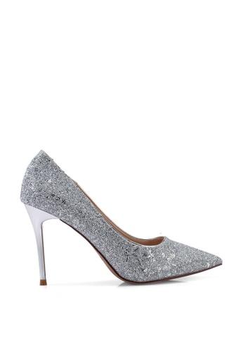 Kimmijim silver Liberty Pointed Toe Heels A1750SH7514B3FGS_1