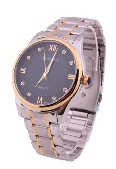 Laurence Large Two-Tone Steel Watch