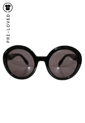 ALEXANDER MCQUEEN black Pre-Loved alexander mcqueen Classic Round Sunglasses. 26A0DGL560C6ABGS_1