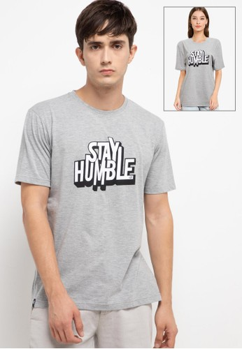 D&F grey T-Shirt Pria Stay Humble 78B32AAC8F66D3GS_1