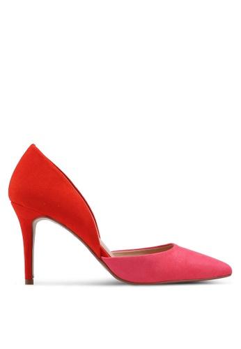 d0fc721b79a Pink Microfibre Etta Court Shoes