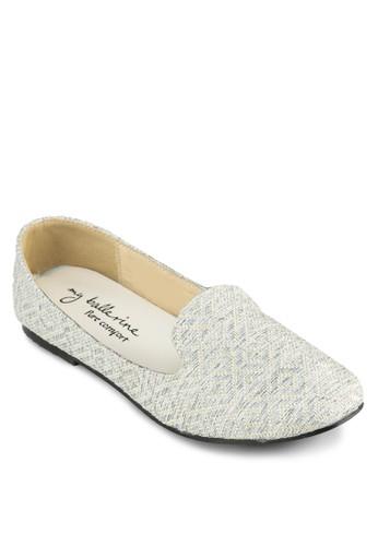 Madelyn esprit 鞋暗紋樂福鞋, 女鞋, 鞋