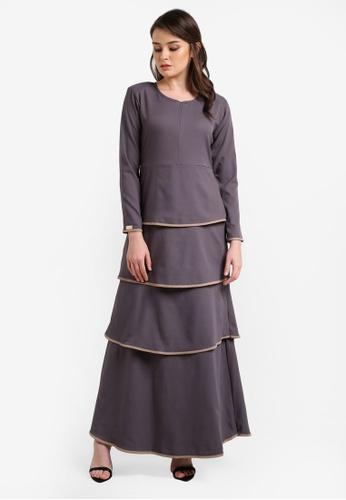 JubahSouq grey Valeria Dress 2.0 JU399AA0RTR5MY_1