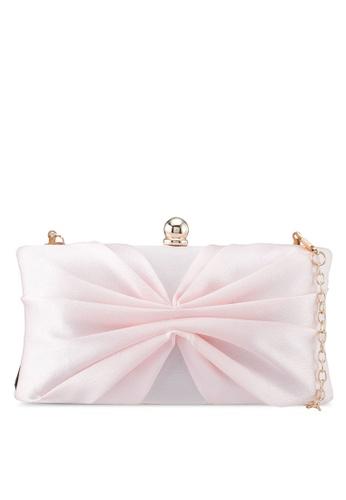 Papillon Clutch pink Silky Ribbon Clutch EC9A0ACD78814CGS_1