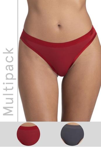 DORINA multi 2 Packs Crystal Brazilian Panties 363D2US7EF5513GS_1