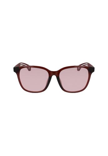 Calvin Klein Eyewear red Squared CKJ18508SA Sunglasses 1A81AGLDFB4D8BGS_1