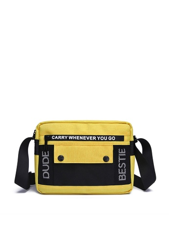 The Dude yellow Stereo Messenger Bag ED383AC3E1DE43GS_1