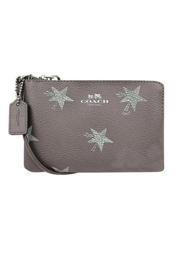 Coach silver Coach Star Canyon Gray Leather Wristlet (F64645)-SV/Silver 8423EACE287FBCGS_1