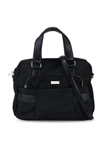 NUVEAU black Premium Nylon Convertible Top Handle Bag 9E0E8ACAB83A77GS_1