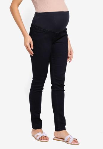 JoJo Maman Bébé 海軍藍色 孕婦裝 緊身牛仔褲 F65C0AA5356AA9GS_1