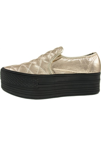 Maxstar 金色 新款韩国鞋C50-Stitch-TC時尚皮革布混合女金色 US Women Size MA345SH04GWXTW_1