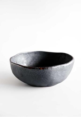 KRA Sanctuary grey Charcoal Grill Free-Form Salad Bowl Large 58DB6HL452875FGS_1