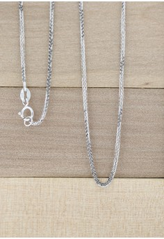 14K White Gold Foxtail Chain