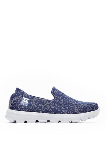 Life8 blue Knit fabric lightweight sport shoes-09702-Blue LI283SH0GQHPSG_1