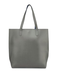 Contrast Handles Trapeze Tote