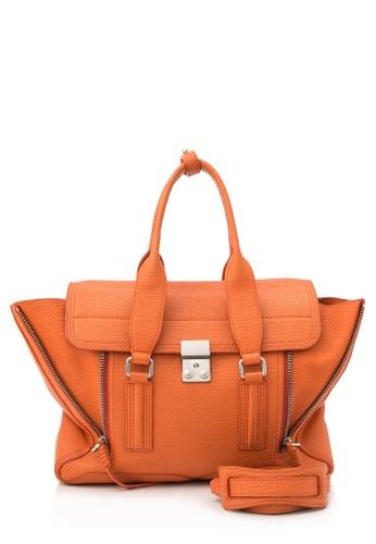 3.1 PHILLIP LIM orange Pre-Owned 3.1 Phillip Lim Pashli Medium Satchel 7E858AC71A5F13GS_1