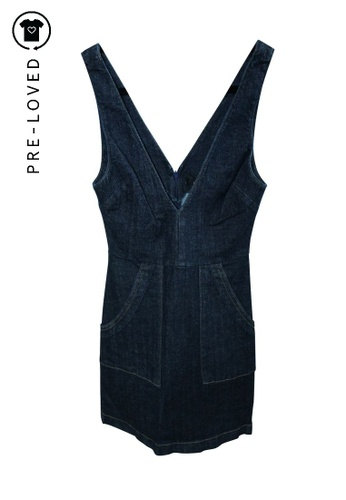 Reformation multi Pre-Loved reformation Mini Jeans Dress 4A749AA079F1C6GS_1