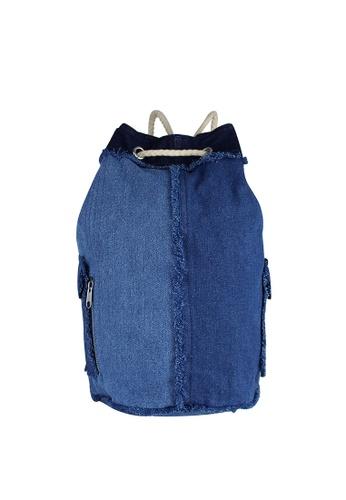 London Rag blue London Rag Women Denim Drawstring Backpack BG5047 LO360AC0GWPZSG_1