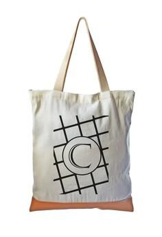 Tote Bag Minimalist Initial C