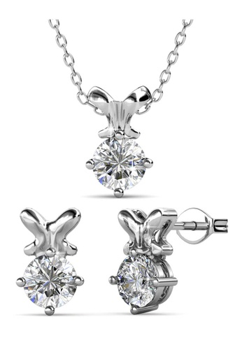Her Jewellery silver Swarovski® Crystals - Mystique Set (18K White Gold Plated) Her Jewellery HE581AC0RBP3MY_1