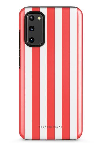 Polar Polar red Scarlet Stripe Samsung Galaxy S20 5G Dual-Layer Protective Phone Case (Glossy) CACC0AC47F6E85GS_1