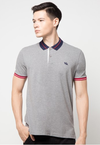 Polo With Stripes On Collar