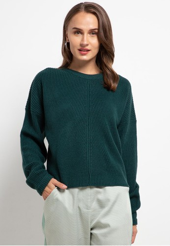 Peponi green Oversize Pullover 37117AA1A797E1GS_1