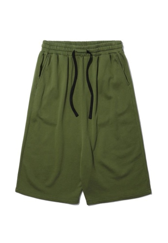 Fivecm green Drawstring sweat shorts F368FAA165A3CAGS_1