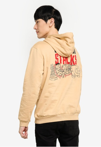 KOTON beige The Flintstones Hoodie Sweatshirt 6A7F3AA42179D7GS_1