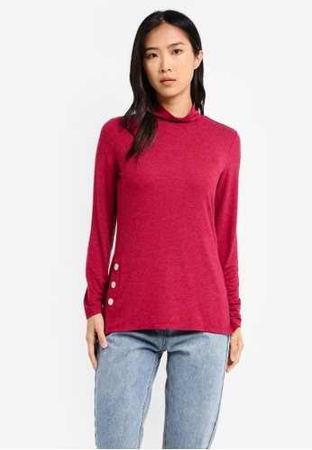 ESPRIT red Long Sleeve Top ES374AA0T14NMY_1