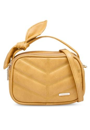 Verchini yellow Mini Sling Bag with Bow 82903AC5F6027CGS_1