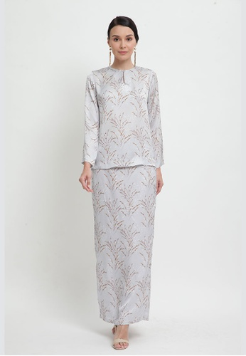 Sarah Kurung from Cahaya Lily in Grey