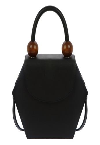 My Flash Trash black Black Hexagon Wooden Beads Handheld bag EA6E5AC6100611GS_1