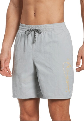 "Nike grey Nike Swim Men's JDI Swoosh Icon 7"" Volley Short D5797US105337FGS_1"