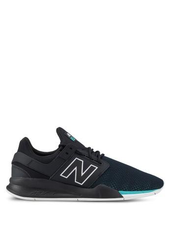 New Balance black 247 Lifestyle Tritium (DTC) Shoes C13EESH5BC639FGS_1