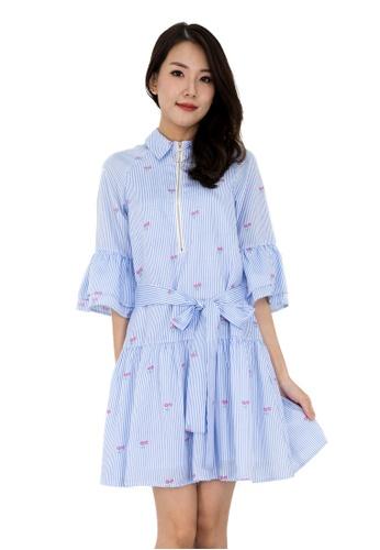 MOONRIVER Sally Sleeves Low Waist Dress D60F5AAB08FDE8GS_1