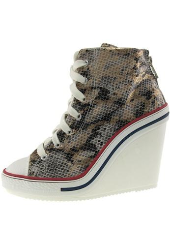 Maxstar Maxstar Women's 777 Back Zipper Snake Texture High Wedge Heel Sneakers US Women Size MA168SH19ADOHK_1