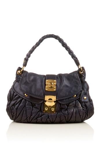 MIU MIU navy Preloved Navy Leather Coffer Bag. A6E57ACDA719F9GS_1