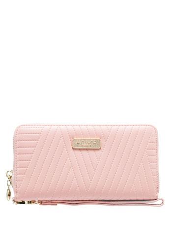 Unisa pink Debossed Ladies Zip-Around Wallet EF233AC3DBFBFDGS_1