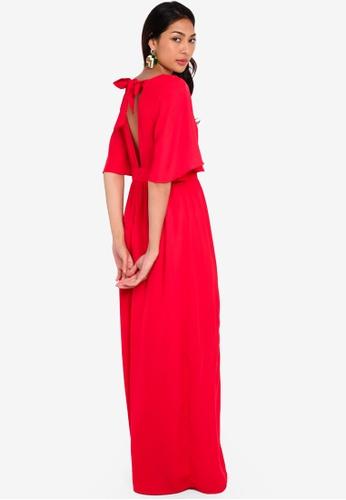Glamorous 紅色 喇叭袖長洋裝 1D0E6AAAB39992GS_1