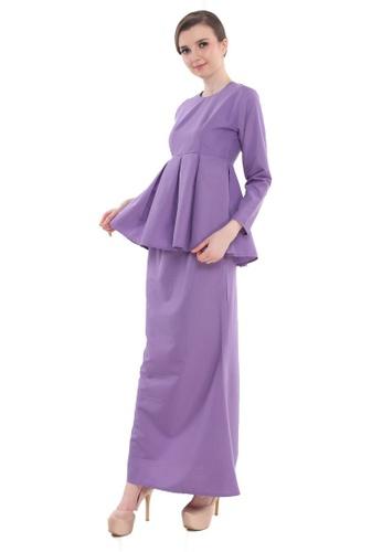 Amar Amran purple Peplum Saloma 31A29AA0E74E59GS_1
