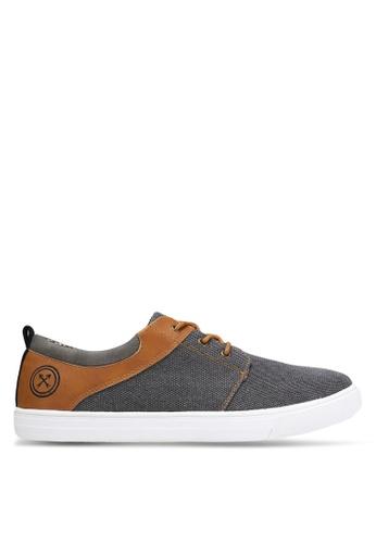 JAXON grey Contemporary Mixed Material Sneakers A3A1FSH02D40D7GS_1