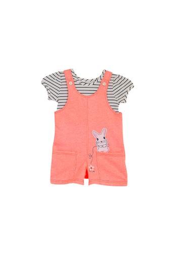 Torio orange Torio Cute Bunny Overall Set - Baju Setelan Anak Perempuan Baju Anak Perempuan Jumper Anak F8E41KA31BBF1CGS_1
