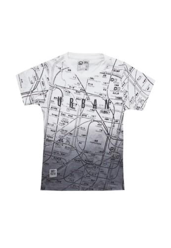 SHARKS white Sprayed City Tshirt CE711KA957C563GS_1