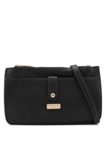 Unisa black Vintage Multi-Compartment Sling Bag UN821AC0SIMUMY_1